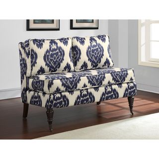 32399 Cassidy Indigo Ikat Loveseat Dimensions 35 Inches High X