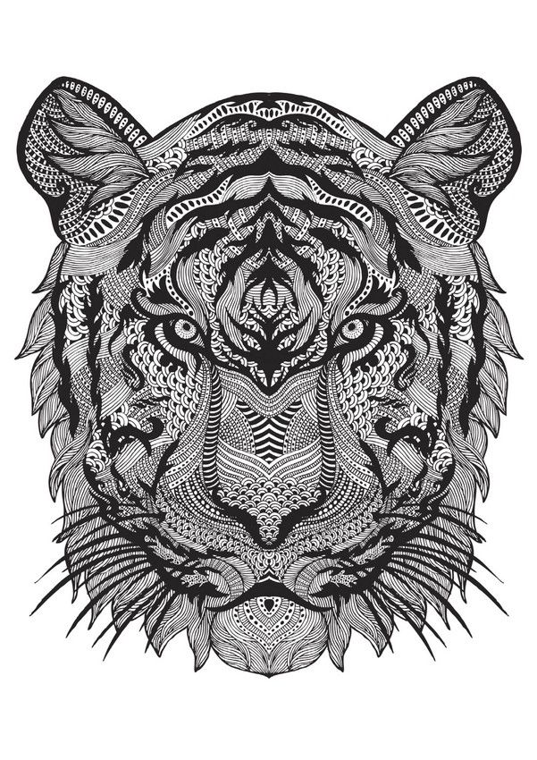 The 15 Biggest Trends in Adult Colouring This Year | big cats ...