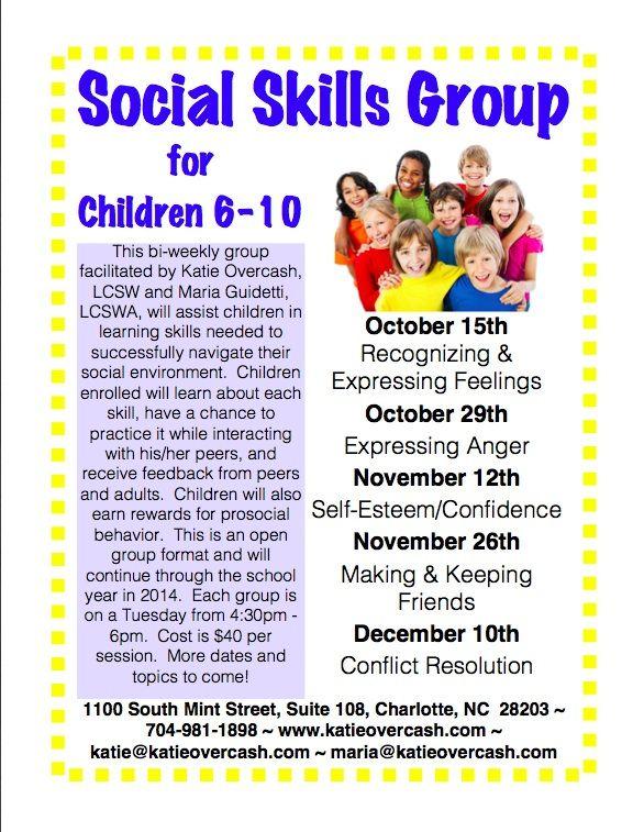 Social Skills Group For Children 6 10 Social Skills Groups Social Skills Social Skills Training