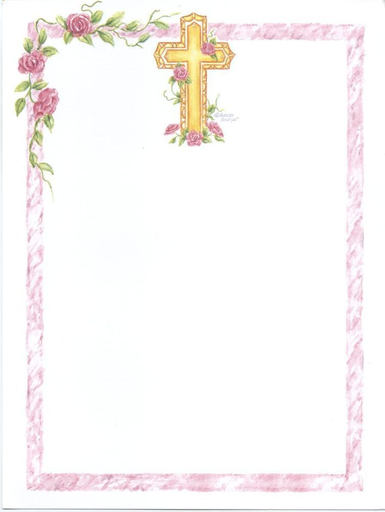 13 Blank Girl S First Holy Communion Invitations And 8