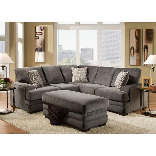 Contemporary Sectional Sofa With 4 Seats   3500 By American Furniture    Wilcox Furniture   Sofa