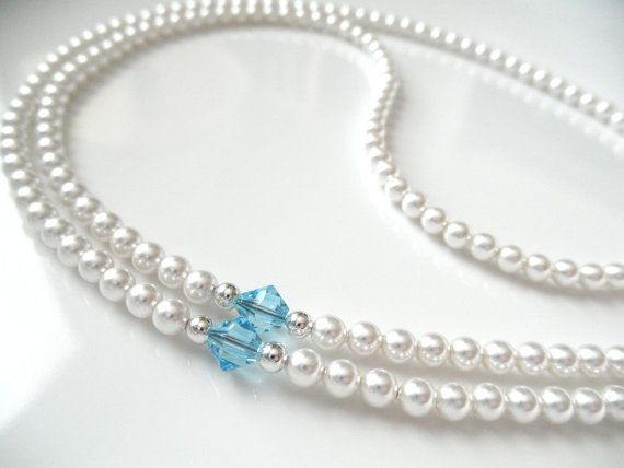 White Swarovski Pearl Eyeglass Chain with by BeaditudeBoutique