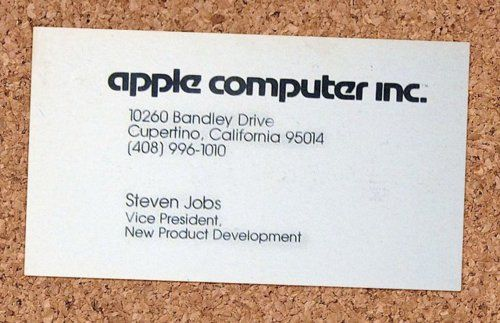 Steve Jobs Business Card 1979 From Fuckjerry However Can I Get A