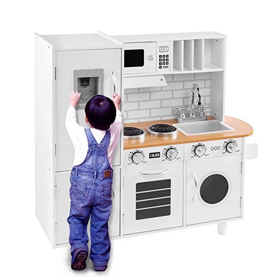 Amazon Com Bahom Kids Play Kitchen Set For Toddlers Chefs