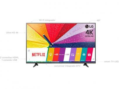 """Smart TV 4K Ultra HD LED 49"""" LG 49UF6800 - Conversor Integrado 2 HDMI 1 USB webOS Wi-Fi com as melhores condições você encontra no Magazine Phbf. Confira!"""