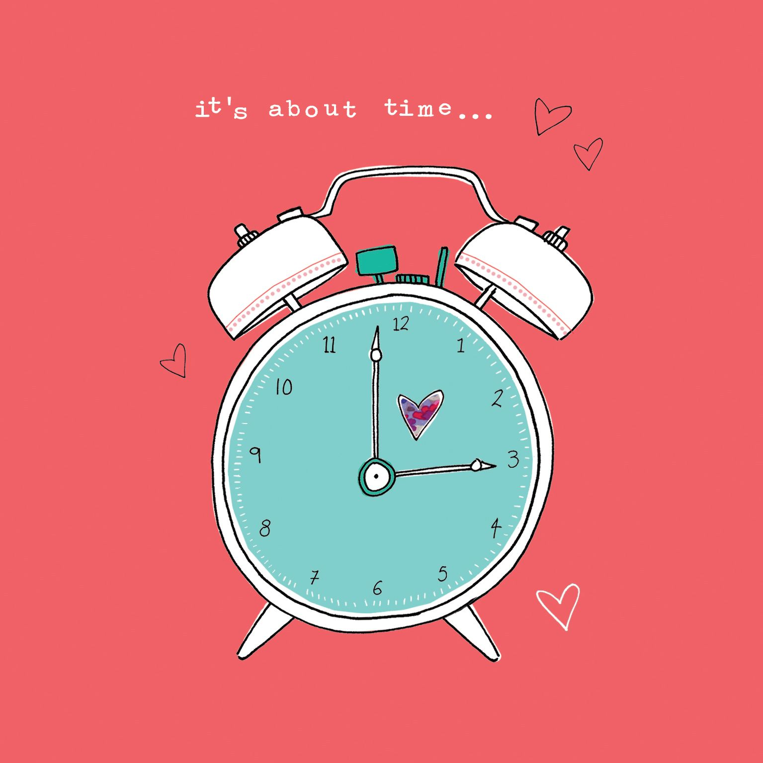 Its All About Hearts Heart Gift Cards Clock Creative
