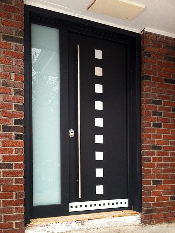 Gallery of modern exterior doors by Milano Doors. Milano-10 Sidelight & Gallery of modern exterior doors by Milano Doors. Milano-10 ...