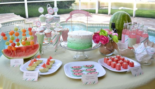 End Of Summer Watermelon Party With Some Great Ideas That Could Be
