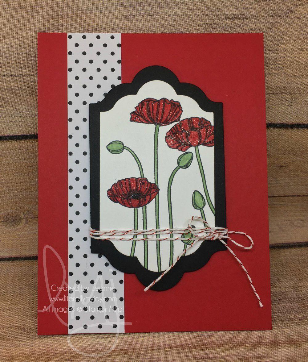 Poppies — Literally My Joy Cards handmade, Poppies