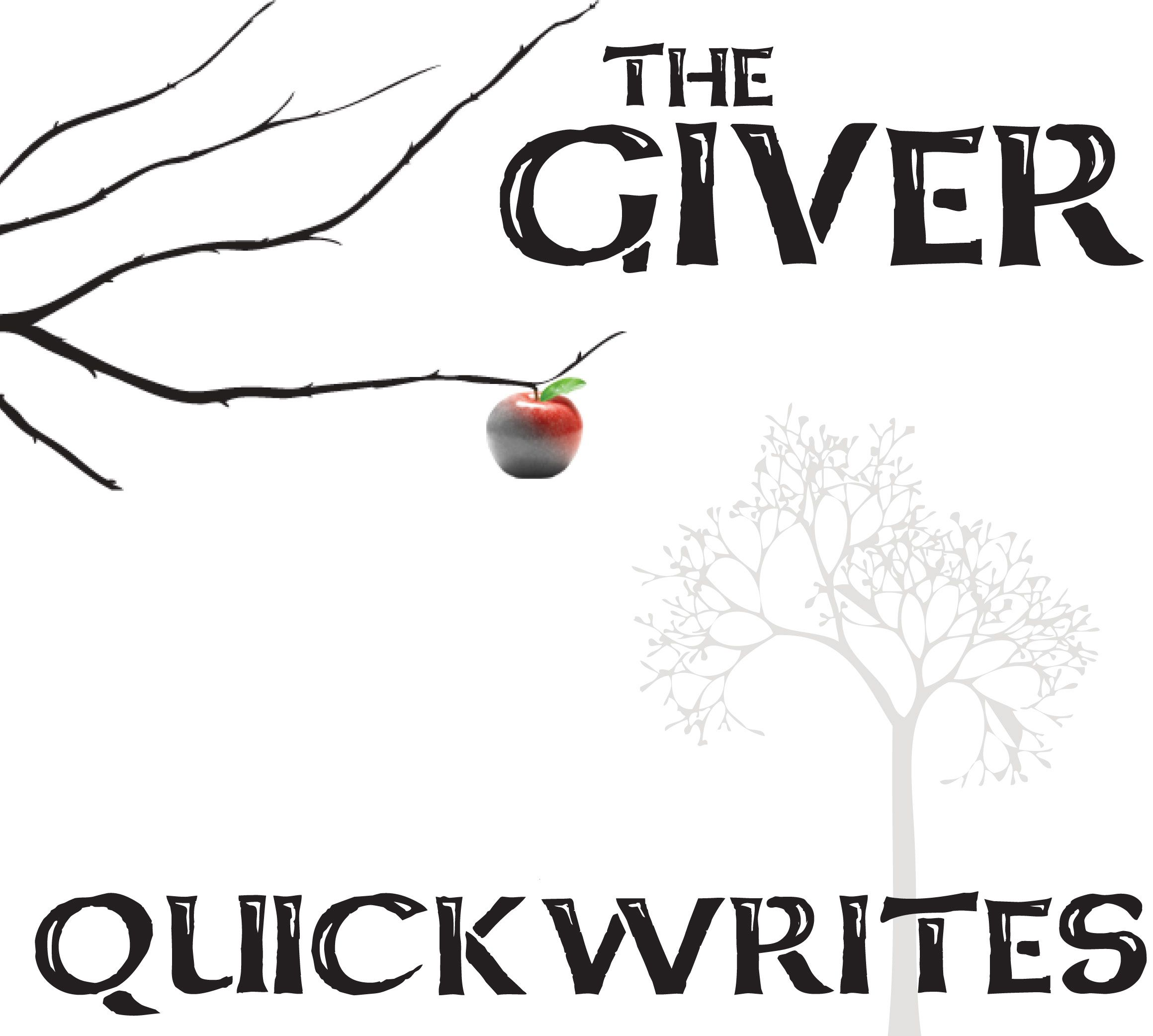 004 THE GIVER Journal Quickwrite Writing Prompts