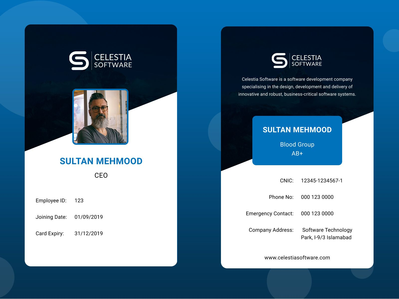Employee Id Card Employee Id Card Cool Business Cards Business Cards Creative