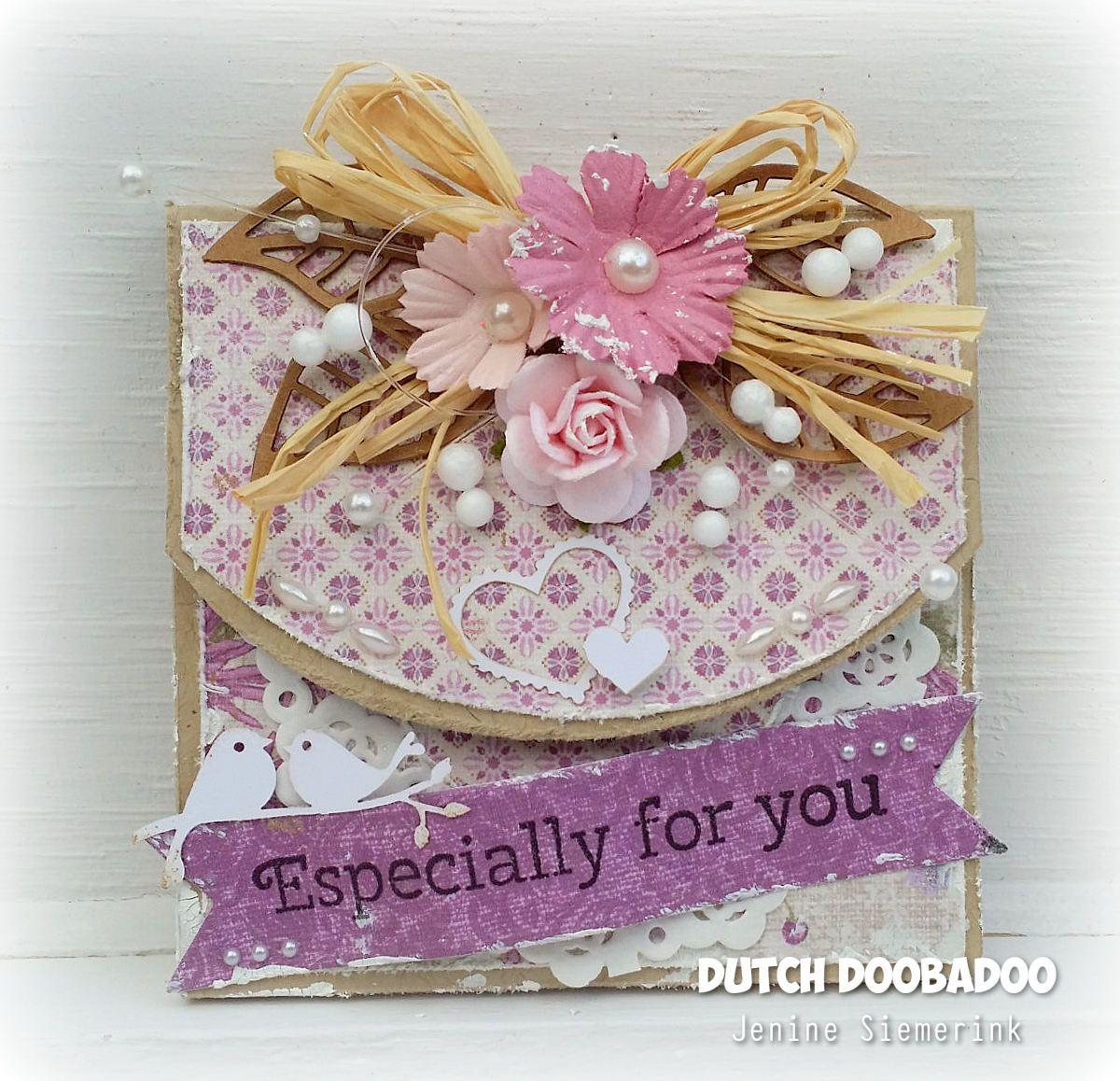 Jenineus card ideas dutch doobadoo merci doosje card making
