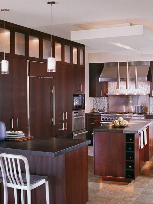 Best Kitchen Contemporary Style Dark Wood Cabinets Neutral 400 x 300