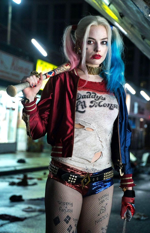 Harley quinn cosplay face down