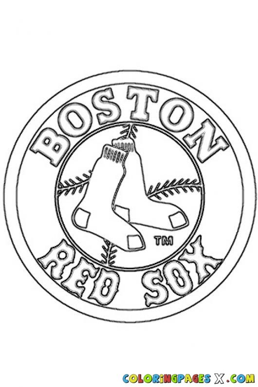 Red Sox Logo Coloring Pages Crafts Pinterest Boston Red Sox