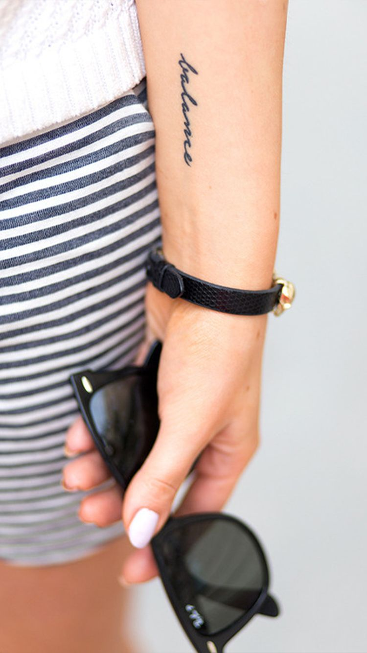 Discreet And Charming Wrist Tattoos Small Wrist Tattoos Wrist Tattoos Words Balance Tattoo