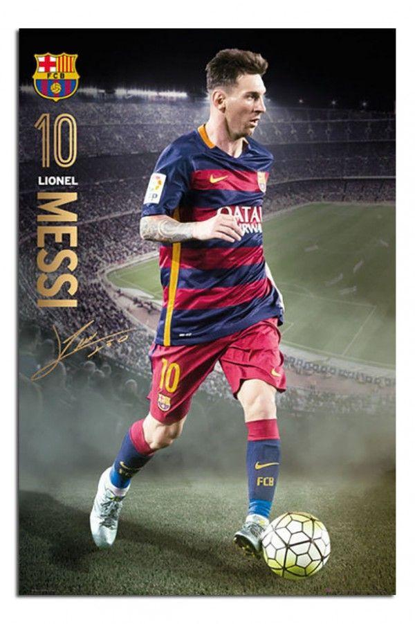 e1f01c7b8 FC Barcelona Lionel Messi 2015   16 Action Poster