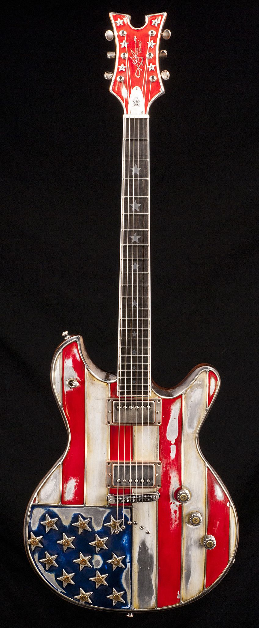 mcswain red white bullets american national pride shown in this electric guitar designed to. Black Bedroom Furniture Sets. Home Design Ideas