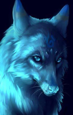 The Blue Moon Wolf Running Away Fantasy Wolf Galaxy Wolf Anime Wolf