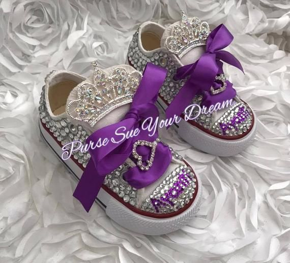 711469da24ca Swarovski Crystal Design Princess Converse Shoes - Bling Shoes ...