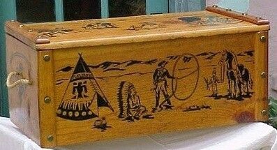 Roy Rogers Wooden Toy Chest Wooden Toy Chest Toy Boxes Vintage Toys