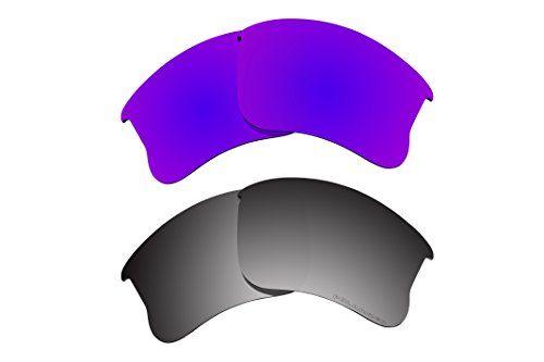 d1dfc978ce BVANQ Polarized Lens Replacement for Oakley Flak Jacket XLJ Sunglass 2 Pairs  Pack N12