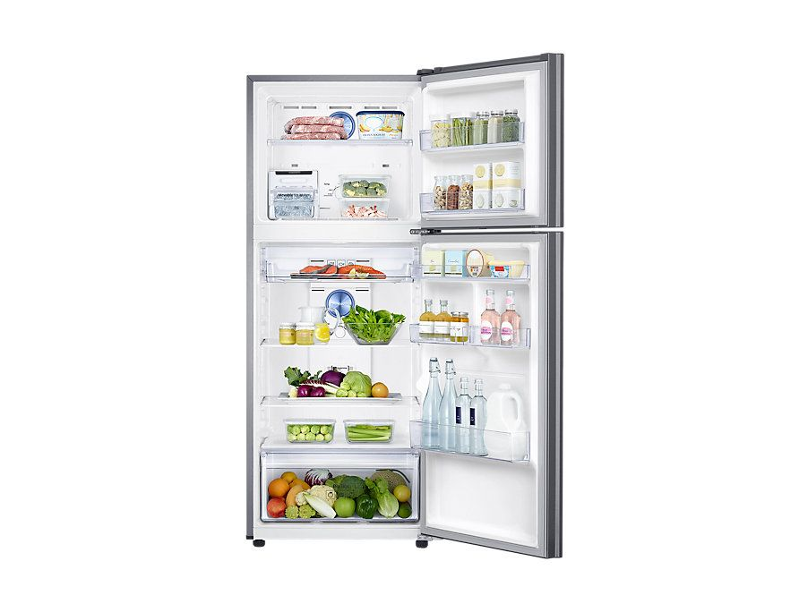 Front Open With Food Silver Home Appliance Store Refrigerator