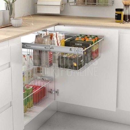 Módulo extraible multiuso de fácil montaje para mueble de cocina ...