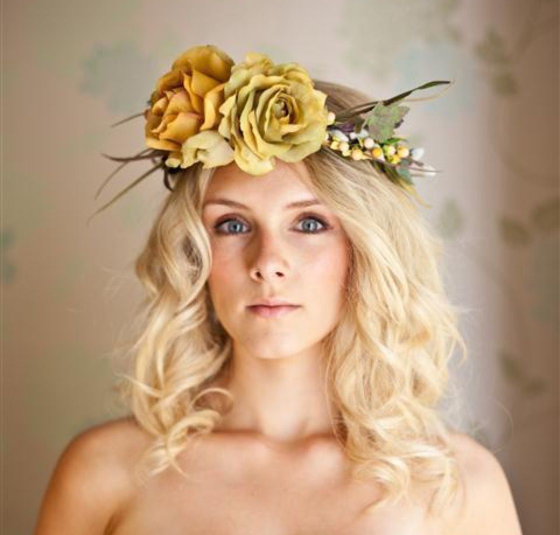 Pin By Floral Land On Wedding Halo Flower Crowns Hair Flowers