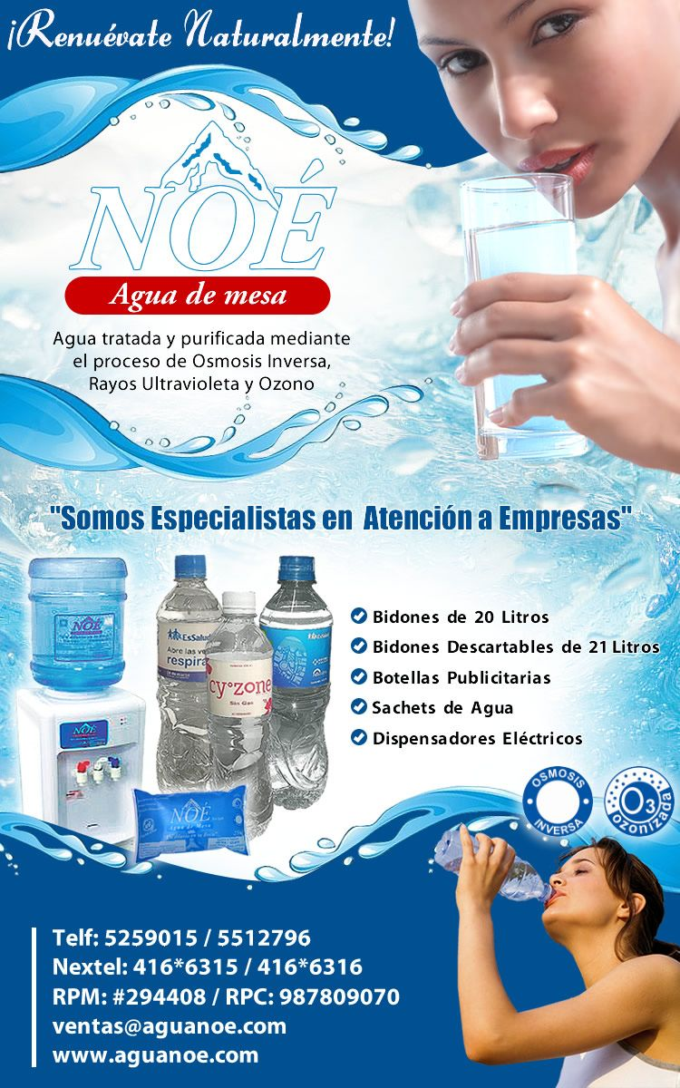 Diseño De Flyer Para Campaña De Envíos Masivos Agua Noe Clear Water Water Map Screenshot