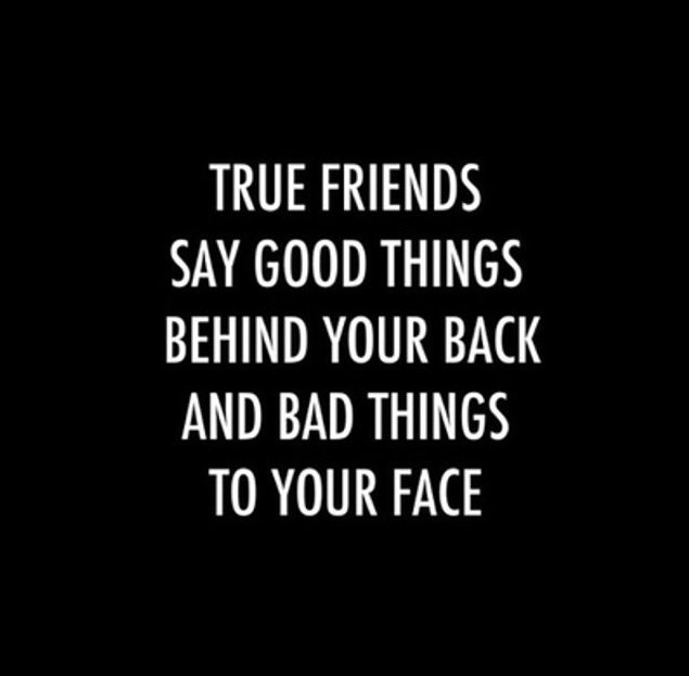 True Friends Say Good Things Behind Your Back And Bad