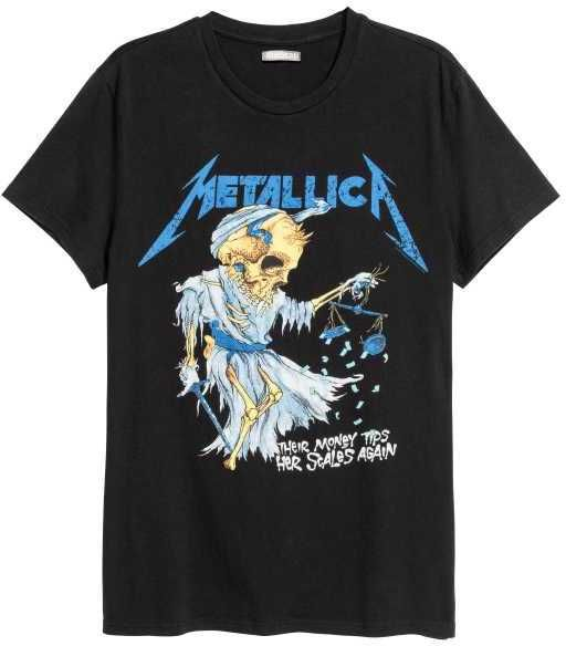 "L H/&M METALLICA /"" And Justice For All /"" T-Shirts NEW With Tag Sizes S M XL"