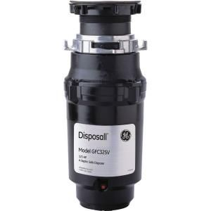 GE 1/3 HP Continuous Feed Garbage Disposal-GFC325V at The Home Depot