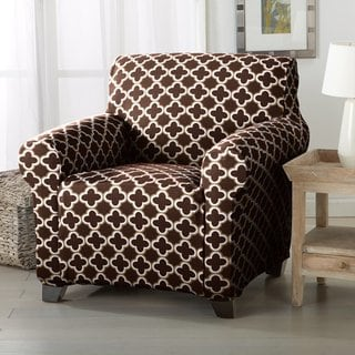 Home Fashion Designs Brenna Collection Stretch Form Fitted Chair Slipcover Chocolate Slipcovers For Chairs Furniture Slipcovers Armchair Slipcover