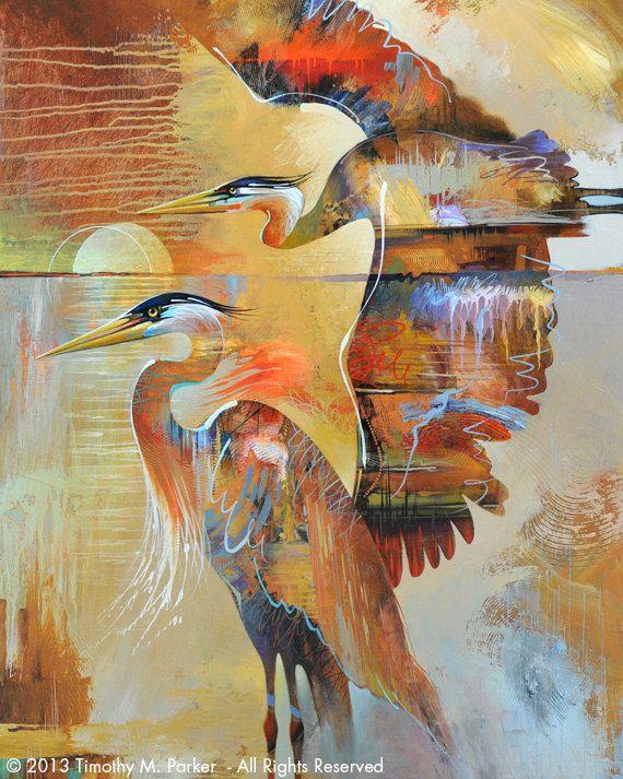 Contemporary Tropical Bird Art Modern Tropical by Art2DStudio