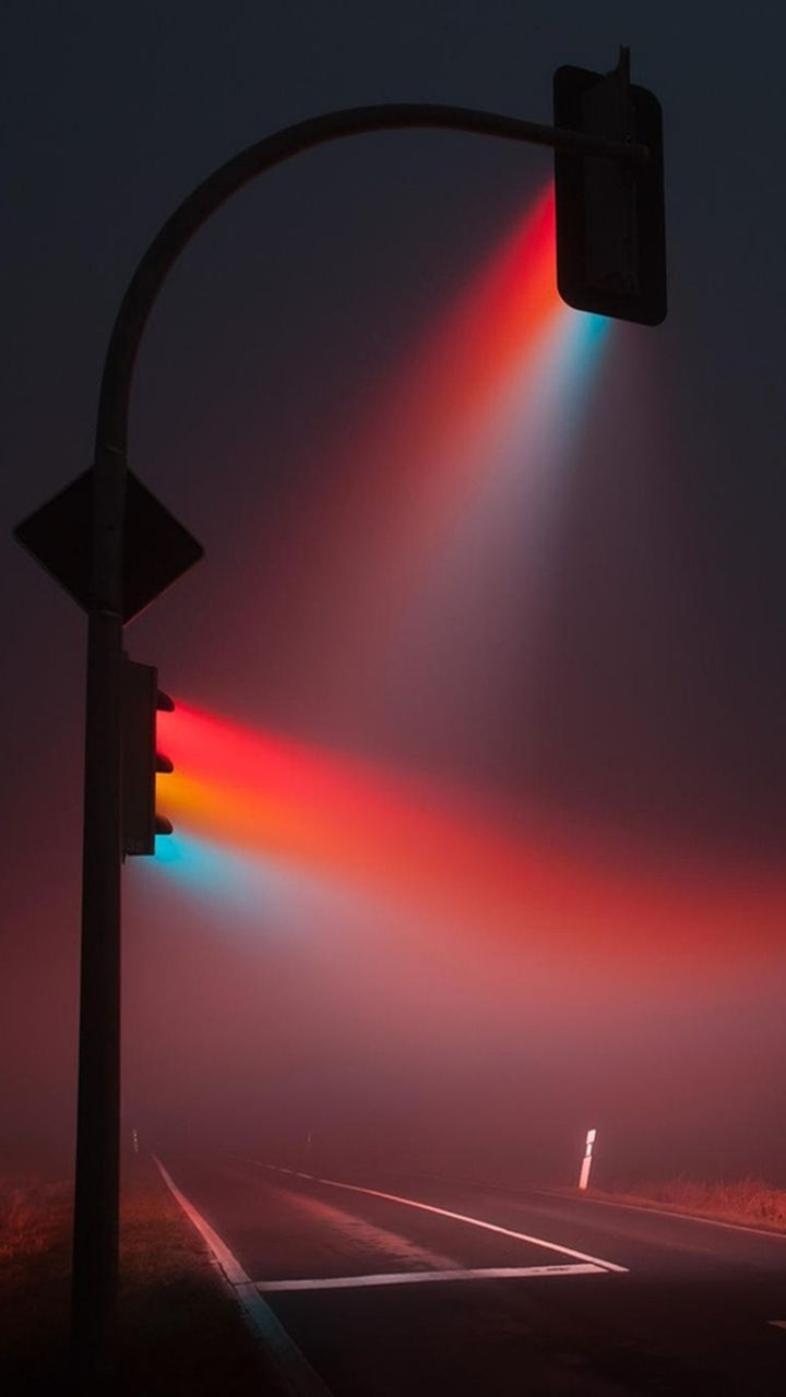 Colorful Traffic Lights At Night Iphone Wallpapers City Lights