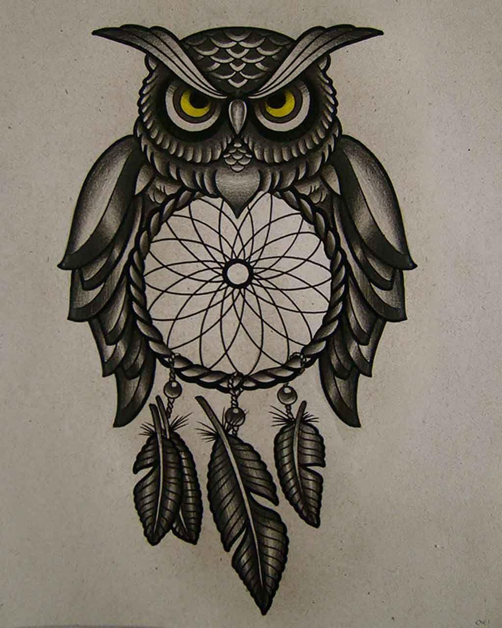 30 Modelos Tatuajes De Búhos Y Su Significado Imágenes Tatuaje