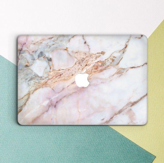 Rose Gold Marble Macbook case Marble Pink Girl Cute Macbook | Etsy
