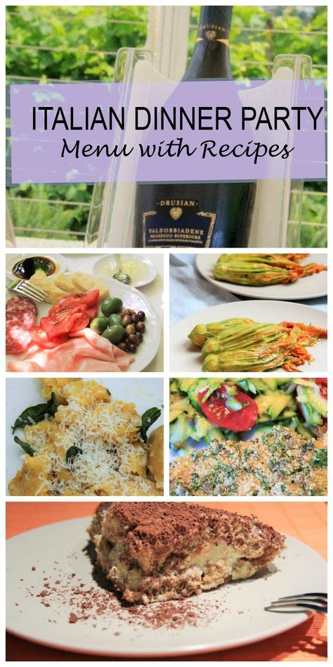 Entertaining Made Easy with 8 Complete Dinner Party Menus Dinner - italian menu