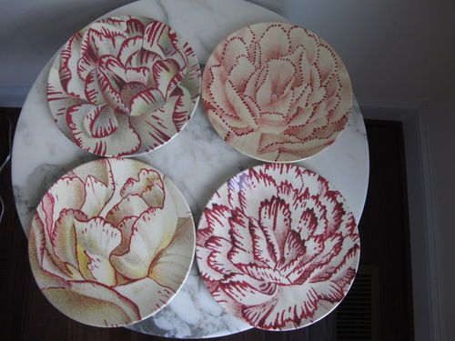 New John Derian For Target 4 Salad Plates Dahlia Flowers Ebay
