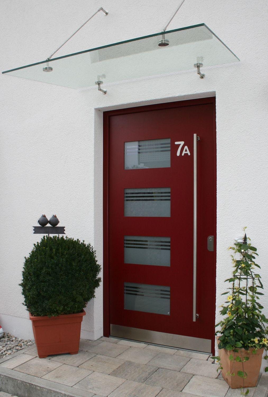 puerta de entrada batiente de aluminio de seguridad