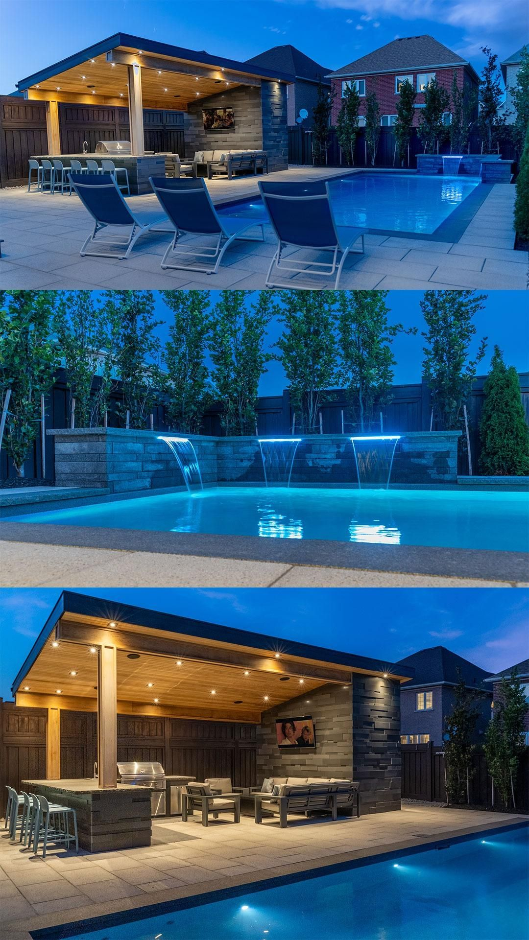 Finished Backyard Oasis In Vaughan An Immersive Guide By Aquaspa Pools