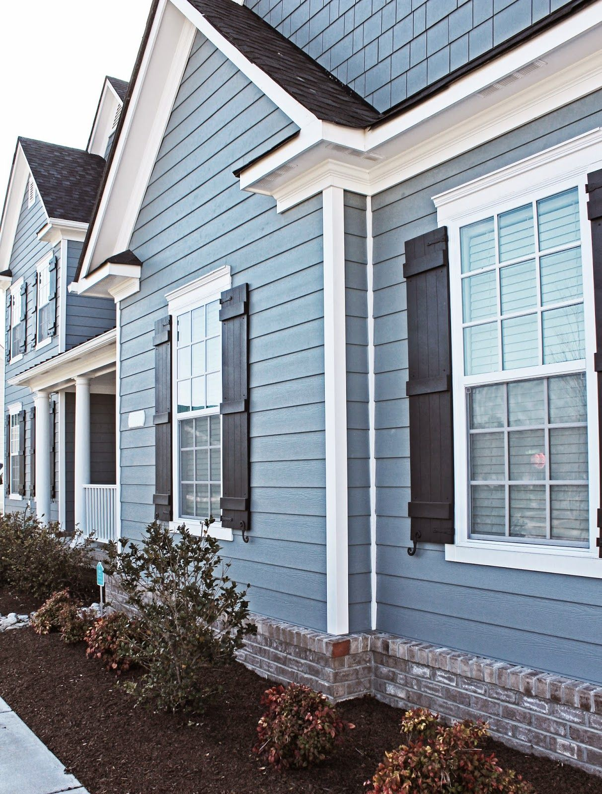 The Exterior Is James Hardie Plank And The Color Is Boothbay Blue - Exterior hardie board