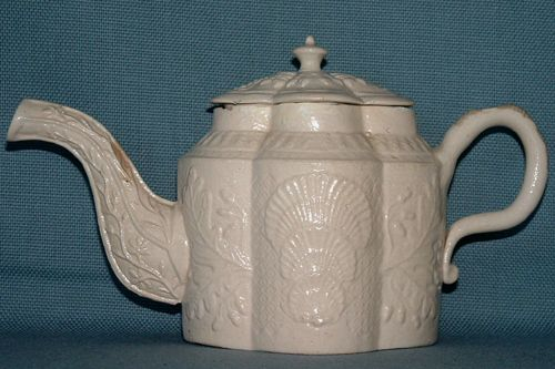 A Stoneware teapot  late 1770s Staffordshire