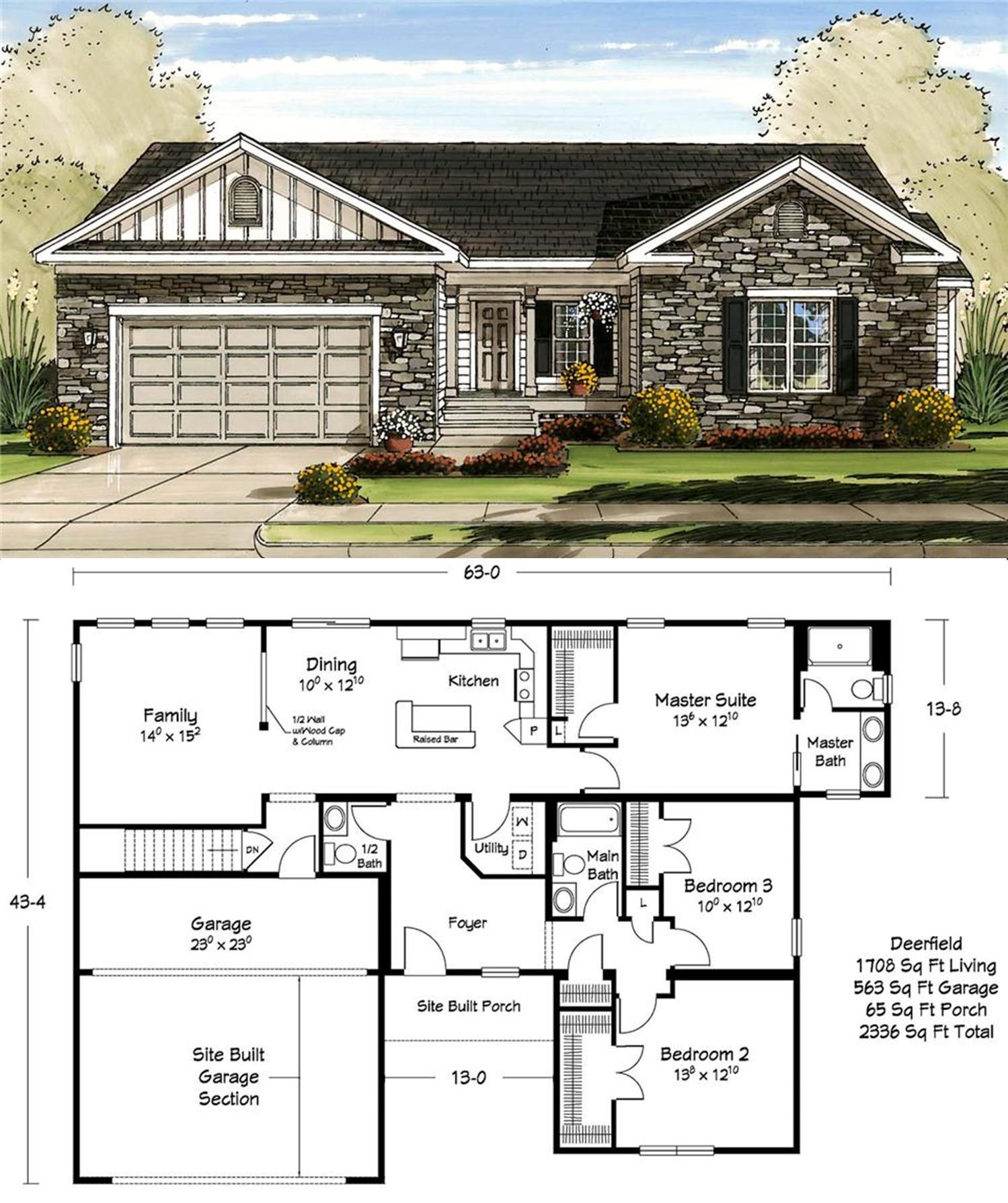 1700 Square Feet Perfect Realistic Simple Home Craftsman Style House Plans House Plans With Pictures New House Plans