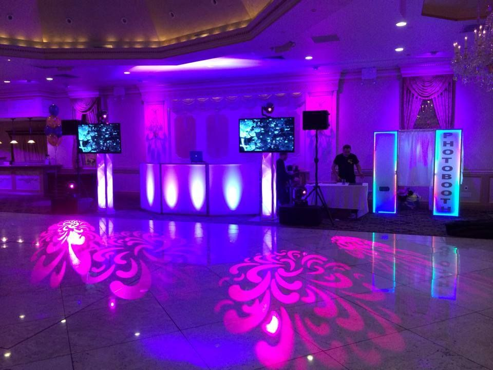Laser Lighting L Dance Floor Projections L Glow Photo Booth L Glow Dj Booth L Monitors L Villa Barone Hilltop Manor Dj Booth Glow Photos Manor