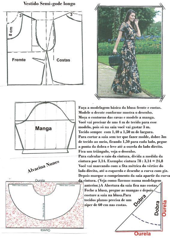 Costura e Modelagem | Molde | Pinterest | Costura, Molde y Patrones