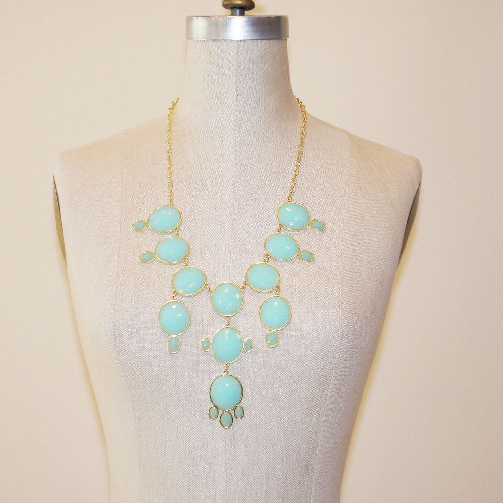 Drop Necklace, Turquoise Necklace