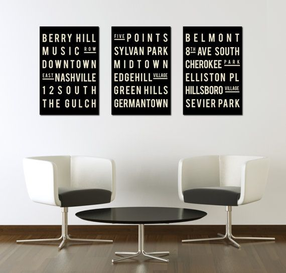 Superbe NASHVILLE. Typography Print. Giclee Art Poster. Wall Art. Home