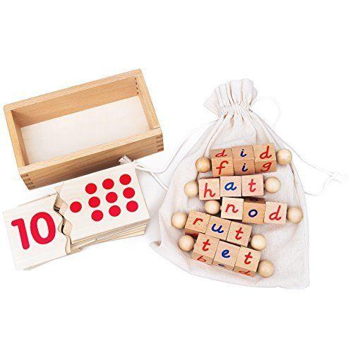 Amazon.com: Montessori Phonetic Reading Blocks for the ...